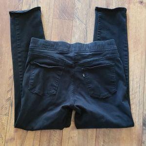 Levi Black Jeggings size 10 Short